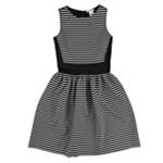 bar III Womens Striped Fit & Flare Shift Dress