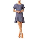 bar III Womens Ruffled Drop Waist Shift Dress