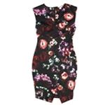 bar III Womens Floral Print Envelope Sheath Dress
