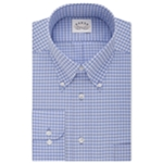 Eagle Mens Classic Fit Non-Iron Check Button Up Dress Shirt