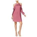 Thalia Sodi Womens Cold-Shoulder A-line Dress
