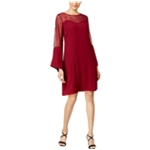 Thalia Sodi Womens Lace Insert A-line Shift Dress