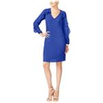 Thalia Sodi Womens Ruffled Illusion Shift Dress