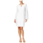 Thalia Sodi Womens Bell Sleeve A-line Dress