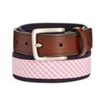 Club Room Mens Plaid Webbing Belt