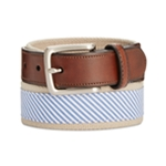 Club Room Mens Striped Woven Belt