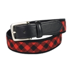 Club Room Mens Check Belt
