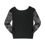 Love, Life, Live Womens Mesh Fleece Sweatshirt