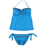 Lucky Brand Womens Stitched Side Tie 2 Piece Bandeau