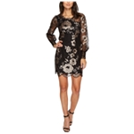 Nanette Lepore Womens Floral Embroidered Lace Sheath Dress