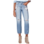M1858 Womens Embroidered Straight Leg Jeans