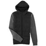 Alfani Mens Mixed Texture Quilted Jacket