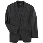 Alfani Mens Textured Two Button Blazer Jacket