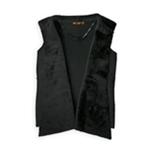 Belldini Womens Contrast Faux Fur Vest