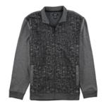 Alfani Mens Abstract Print Fleece Jacket