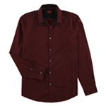 Alfani Mens Arem Check Button Up Shirt