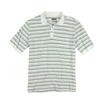 Alfani Mens Ls Striped Rugby Polo Shirt