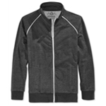 American Rag Mens Speckled Fleece Track Jacket Sweatshirt