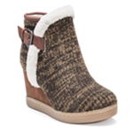 Muk Luks Womens AnnMarie Wedge Boots