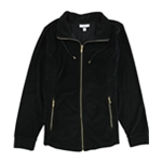 Charter Club Womens Velour Track Jacket