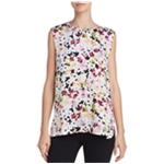 Equipment Womens Floral Sleeveless Blouse Top