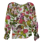 Trina Turk Womens Magnolia Floral Pullover Blouse