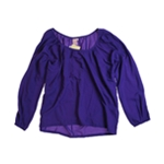 Fourty's Womens Wide Neck Sleeve Pullover Blouse