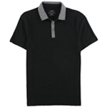 Alfani Mens Geometric Illusion Rugby Polo Shirt