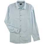 Alfani Mens Aqua Splash Button Up Shirt