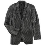 Alfani Mens Jacquard Two Button Blazer Jacket