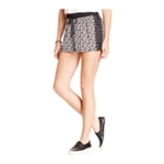 Joe & Elle Womens Printed Lace-trim Casual Mini Shorts