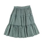 Ralph Lauren Womens Seersucker Midi Skirt