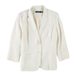 Ralph Lauren Womens Pinstripe Two Button Blazer Jacket