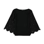 Ralph Lauren Womens Bell Lace Sleeve Basic T-Shirt