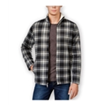 Club Room Mens Plaid Fleece Shirt Jacket