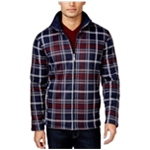 Club Room Mens Plaid FZ Fleece Jacket