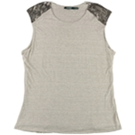 Ralph Lauren Womens Beaded Cap-Sleeve Knit Blouse
