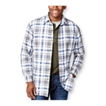 Club Room Mens Plaid Shirt Jacket