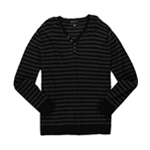 I-N-C Mens Striped Henley Sweater