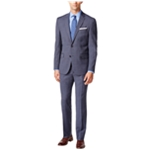 Kenneth Cole Mens Checked Performance Travel Two Button Suit