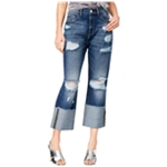 M1858 Womens Distressed & Ripped Cropped Jeans