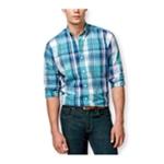 Club Room Mens Courtenay Plaid Button Up Shirt