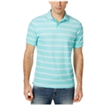Club Room Mens SS Striped Rugby Polo Shirt