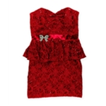 Roberta Womens Sequined Lace Shift Dress