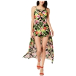 The Edit By Seventeen Womens Tropical Romper Jumpsuit
