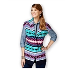 American Living Womens Fair-Isle-Print Sweater Vest
