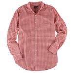 Club Room Mens Mini Plaid Button Up Shirt