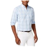 Club Room Mens Richfield Plaid Button Up Shirt