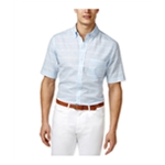 Club Room Mens Pembrook Plaid Button Up Shirt