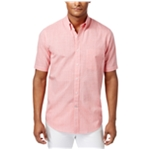 Club Room Mens Mirco-Check Button Up Shirt
